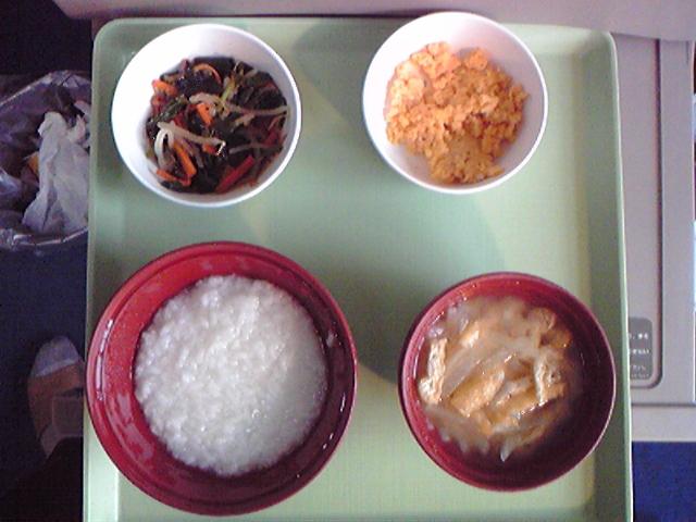 入院六日目の食事