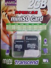 トランセンドの2GBminiSD